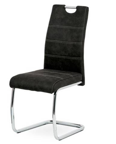 Jedálenská stolička ZOEY čierna/kov