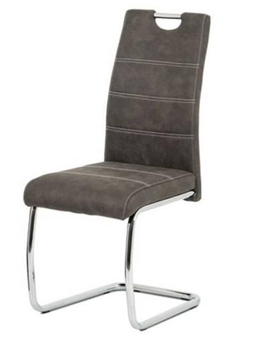 Jedálenská stolička ZOEY sivá/kov