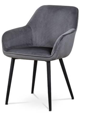 Jedálenská stolička LORETA sivá/čierna
