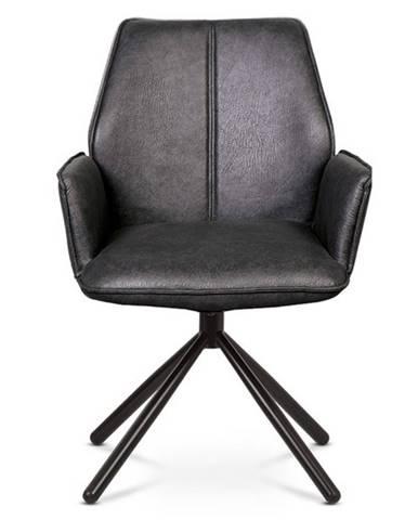 Jedálenská stolička DEBORA sivá/čierna