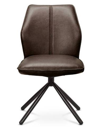 Jedálenská stolička FABIANA hnedá/čierna