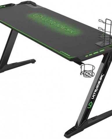 Herný stôl ULTRADESK SPACE XXL GREEN UDESK-SP-GX + ZDARMA podložka pod myš a hub