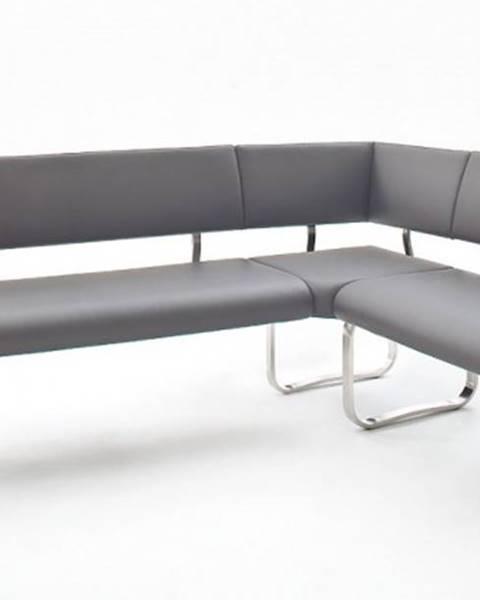 OKAY nábytok Rohová jedálenská lavica Lucile sivá