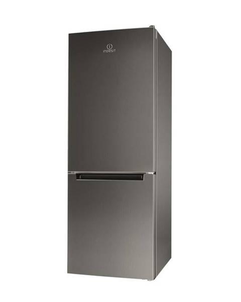 Indesit Kombinácia chladničky s mrazničkou Indesit LI6 S1E X nerez