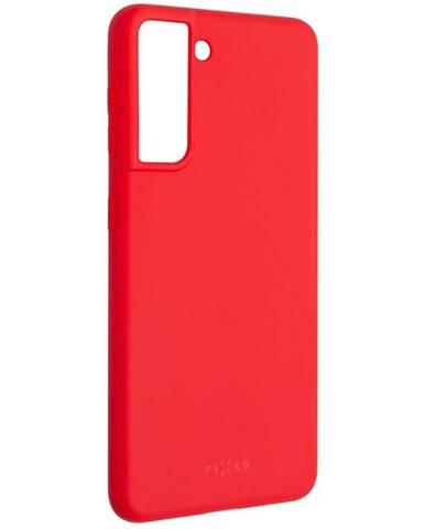Kryt na mobil Fixed Story na Samsung Galaxy S21 5G červený