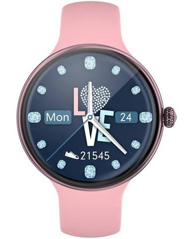 Inteligentné hodinky Immax Lady Music Fit ružové