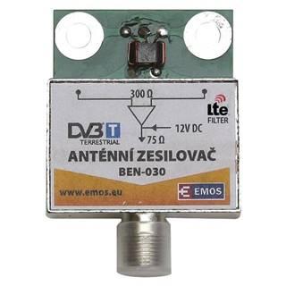 Zosilňovač Emos anténní předzesilovač 30dB VHF/UHF