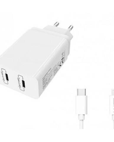 Nabíjačka do siete WG 2x USB-C PD 20W + Lightning kabel 1m biela