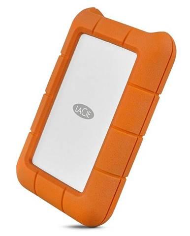 Externý pevný disk Lacie Rugged 4TB, USB-C oranžový