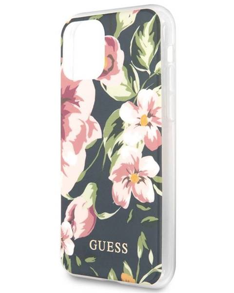 Guess Kryt na mobil Guess Flower Shiny N.3 na Apple iPhone 11 ružový