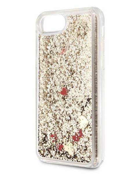 Guess Kryt na mobil Guess Glitter Floating Hearts na Apple iPhone 8/SE