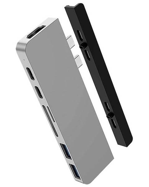 HyperDrive USB Hub HyperDrive DUO 7-in-2 Hub USB-C MacBook Pro strieborný