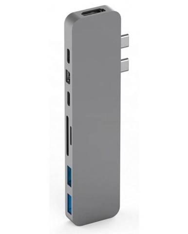 USB Hub HyperDrive PRO USB-C Hub pro MacBook Pro sivý