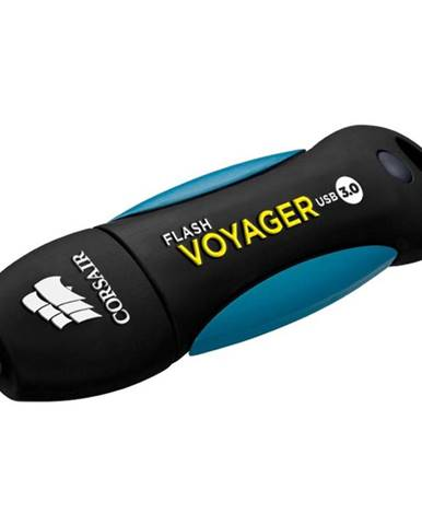 USB flash disk Corsair Voyager 128GB čierny/modrý