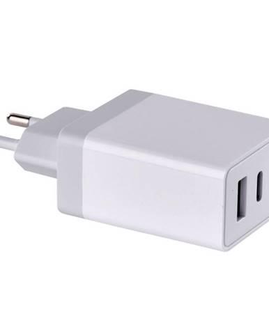 Nabíjačka do siete Emos USB, USB-C PD, QC 3.0, 1,5–3,0A