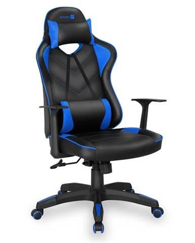 Herná stolička Connect IT LeMans Pro čierna/modrá