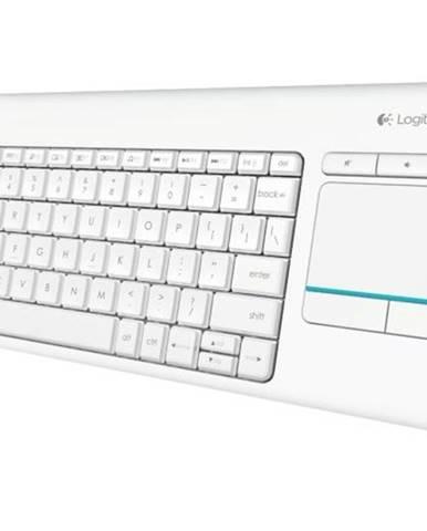 Klávesnica Logitech Wireless Keyboard K400 Plus, CZ biela