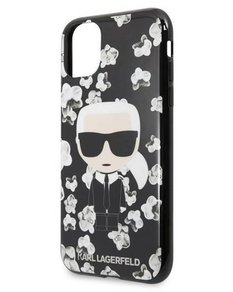 Karl Lagerfeld Kryt na mobil Karl Lagerfeld Flower na Apple iPhone 11 čierny