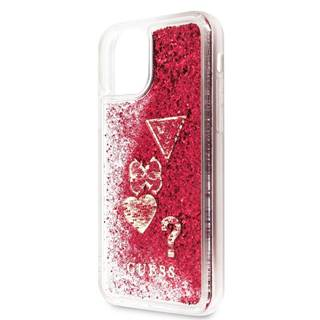 Kryt na mobil Guess Glitter Hearts na Apple iPhone 11 Pro Max
