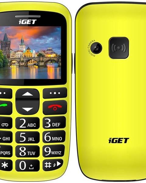 iGET Mobilný telefón iGET Simple D7 Single SIM žltý