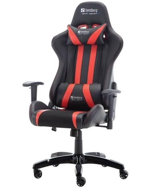 Sandberg Herná stolička Sandberg Commander čierna/červená