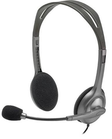 Headset  Logitech H111 sivý