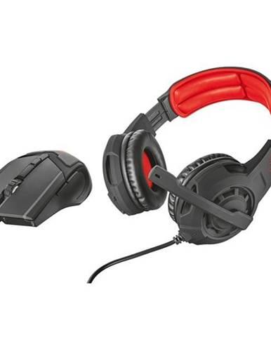 Herný set Trust GXT 784 headset + myš čierny/červený