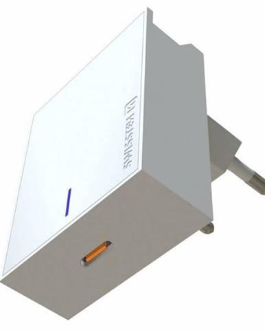 Nabíjačka do siete Swissten USB-C, 20W pro iPhone 12 biela