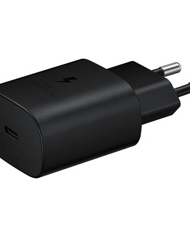 Nabíjačka do siete Samsung USB-C, 25W, bez kabelu čierna