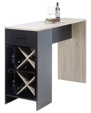 Barový stôl Virgin Čierna/dub sonoma