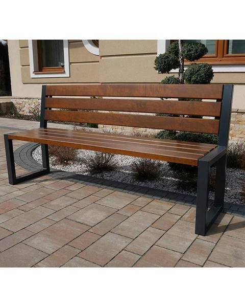 MERKURY MARKET Moderná lavica s operadlom orech