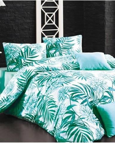 BedTex Bavlnené obliečky Amazing morsky zelená , 140 x 200 cm, 70 x 90 cm
