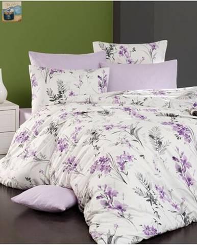 BedTex Bavlnené obliečky Nesta smotanová, mix farieb, 220 x 200 cm, 2 ks 70 x 90 cm