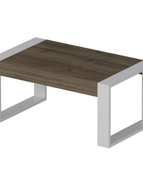 Sconto Konferenčný stolík RETRO orech/biela