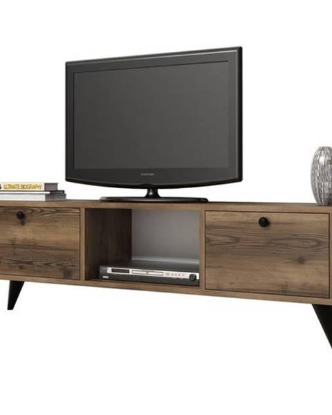 Sconto TV stolík SERENAT orech/čierna