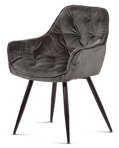 Jedálenská stolička ELIZABETH sivá/čierna