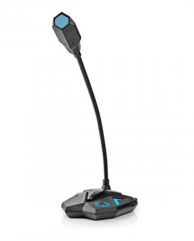 Stolný herný mikrofón Nedis GMICGU100BK, čierno-modrý