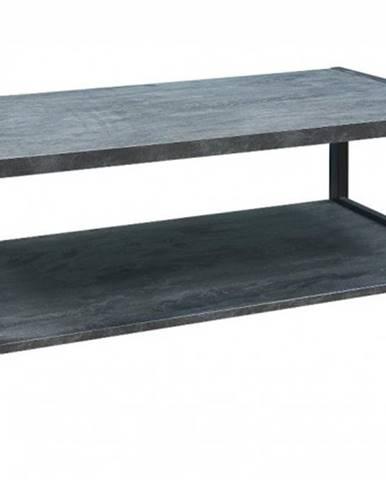 Konferenčný stolík ST202004 mramor uhoľný / čierna