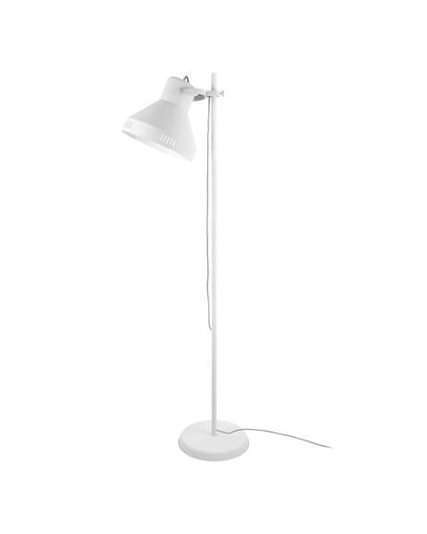 Leitmotiv Biela stojacia lampa Leitmotiv Tuned Iron, výška 180 cm