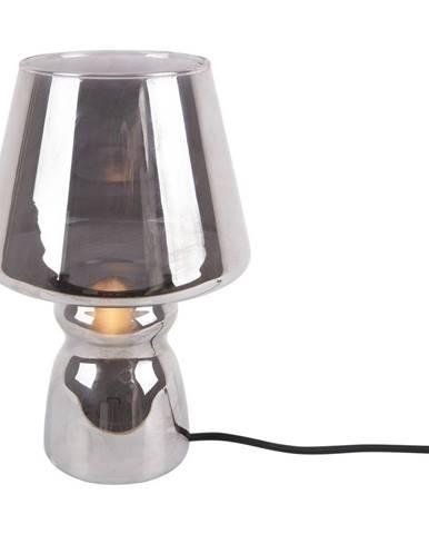Sivá sklenená stolová lampa Leitmotiv Classic Glass, ø 16 cm