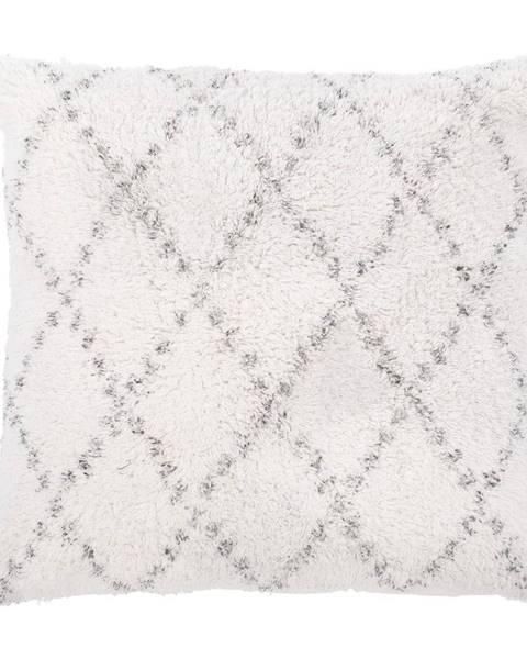 Tiseco Home Studio Bielo-sivý bavlnený dekoratívny vankúš Tiseco Home Studio Geometric, 45 x 45 cm