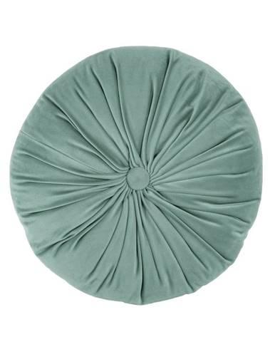 Zelený zamatový dekoratívny vankúš Tiseco Home Studio Velvet, ø 38 cm