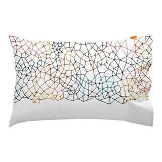 Súprava 2 bavlnených obliečok na vankúš Blanc Net, 50 × 75 cm