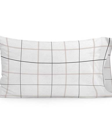 Súprava 2 bavlnených obliečok na vankúš Blanc Tartan, 50 x 75 cm