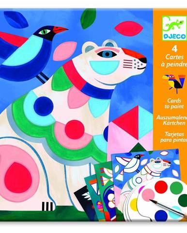Set maľovaniek s vodovými farbami Djeco Vivid