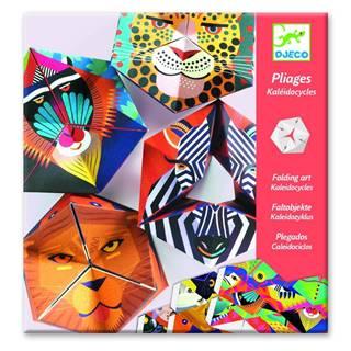 Sada 4 papierových skladačiek Djeco Kaleidocycles