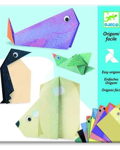 Sada 16 origami papierov s návodom Djeco Polar