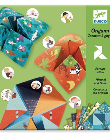 Sada 8 origami papierov so samolepkami Djeco Fortune