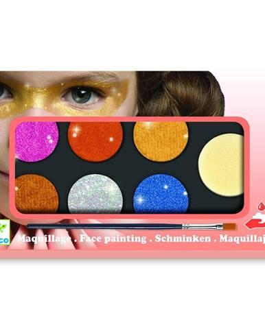 Set maľovanie na tvár Djeco Glitter