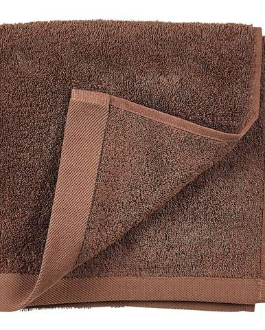 Červenohnedý uterák z froté bavlny Södahl Wood, 100 x 50 cm